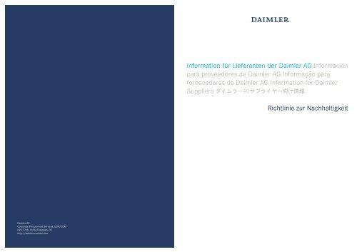 Information für Lieferanten der Daimler AG Información para ...