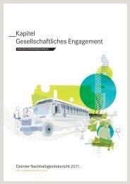 Gesellschaftliches Engagement - Daimler Nachhaltigkeitsbericht 2012.