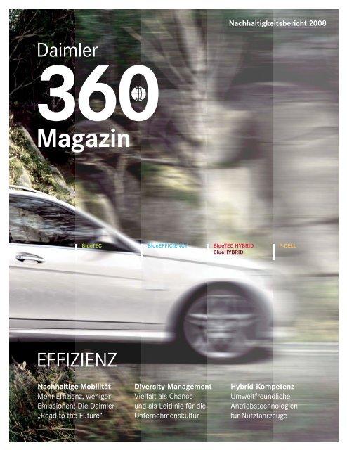 Magazin zur Nachhaltigkeit 2008 - Daimler Nachhaltigkeitsbericht ...