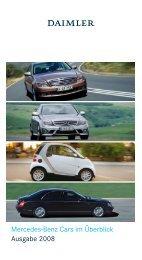 Mercedes-Benz Cars im Überblick Ausgabe 2008 - Daimler