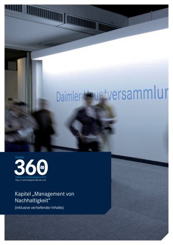 Management von Nachhaltigkeit - Daimler Nachhaltigkeitsbericht ...