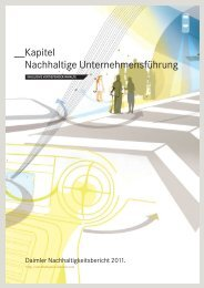 inkl. vertiefender Inhalte - Daimler Nachhaltigkeitsbericht 2012.
