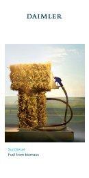 SunDiesel Fuel from biomass - Daimler