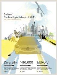 Nachhaltigkeitsbericht 2011 - Daimler Nachhaltigkeitsbericht 2012.