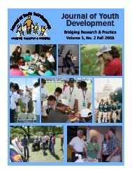 Fall 2008 - Vol. 3 No. 2 - National Association of Extension 4-H Agents