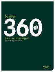 360 GRAD - Fakten zur Nachhaltigkeit 2011 - Daimler ...