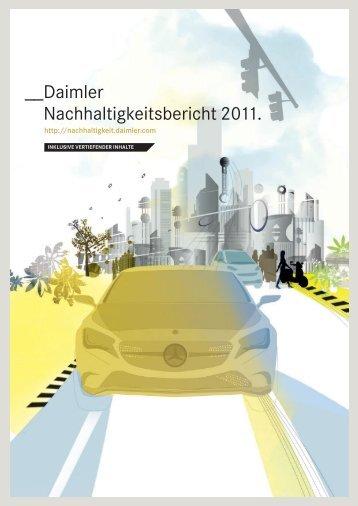 Nachhaltigkeitsbericht 2011 (inkl. vertiefender Inhalte) - Daimler ...