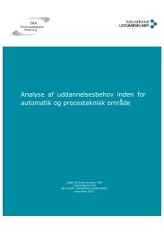 Analyse af uddannelsesbehov inden for automatik og procesteknisk ...