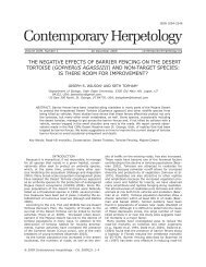 Contemporary Herpetology - The Center for North American ...