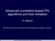 Advanced correlation-based PIV algorithms and their limitation