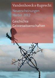 Neuerscheinungen Herbst 2012 Geschichte Geisteswissenschaften