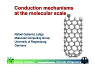 Conduction mechanisms at the molecular scale