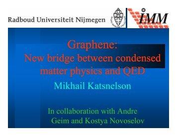 2007 03 29 Mikhail Katsnelson DPG graphene TT27