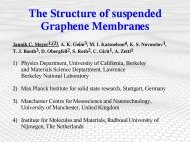 The Structure of suspended Graphene Membranes Jannik C. Meyer 1