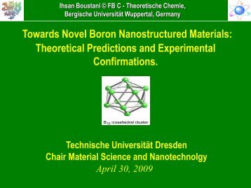 slides (pdf) - Chair of Materials Science and Nanotechnology ...