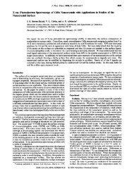 X-ray Photoelectron Spectroscopy of CdSe Nanocrystals - American ...