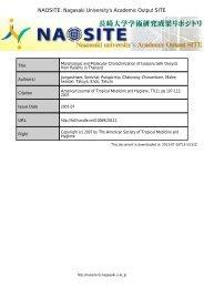 Morphologic and Molecular Characterization of Isospora belli ...