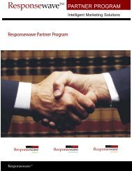 Responsewave Partner Program PARTNER PROGRAM - NAPEX