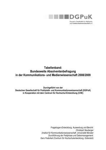 Tabellenband: Bundesweite Absolventenbefragung in der ... - NAPEX