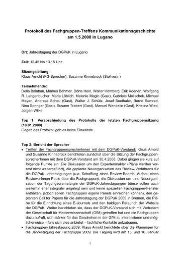 DGPuK-Fachgruppe Kommunikationsgeschichte - NAPEX