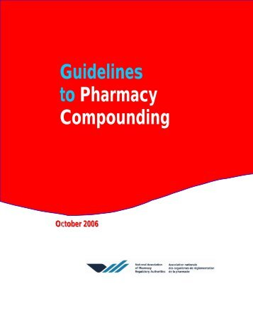 Guidelines to Pharmacy Compounding - New Brunswick ...