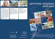 AKTIVITETER I SKOLEÅRET 2012-2013 - Verdens dyr