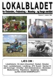 okt. side 1-5.pub - Lokalbladet - For Vinderslev-, Pederstrup-, Mausing
