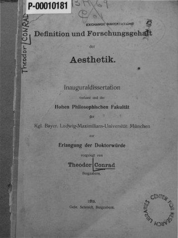 Definition und Forschungsgehalt der Aesthetik - NASEPblog
