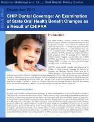 CHIP Dental Coverage: An Examination of State Oral Health Benefit ...