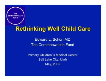 Rethinking Well Child Care - National Academy for State Health Policy