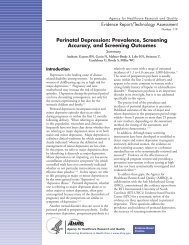 Perinatal Depression - National Academy for State Health Policy