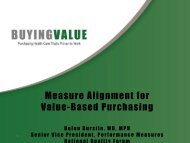 Buying Value presentation - National Academy for State Health Policy