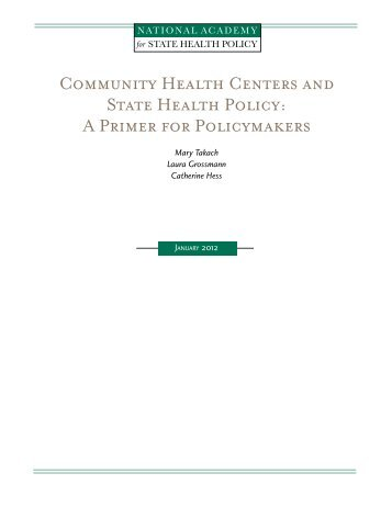 A Primer - National Academy for State Health Policy