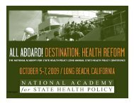 Harrington 1 - National Academy for State Health Policy