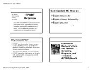 EPSDT Resources - National Academy for State Health Policy