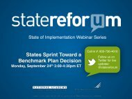 States Sprint Toward a Benchmark Plan Decision - State Refor(u)