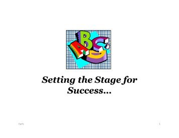 Setting the Stage for Success… - National Academy for State Health ...
