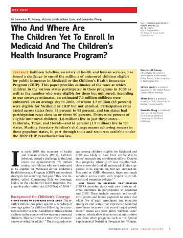 Who And Where Are The Children Yet To Enroll In Medicaid And ...