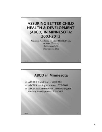 ABCD - National Academy for State Health Policy