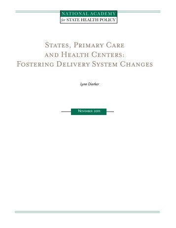 report - National Academy for State Health Policy