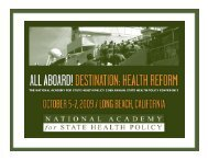 Download presentation - National Academy for State Health Policy