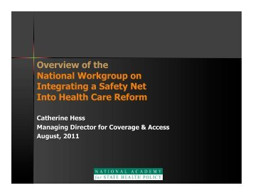 National Workgroup Overview Presentation - National Academy for ...
