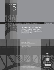 STRATEGIC FINANCING: - National Academy for State Health Policy