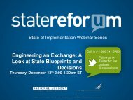Engineering an Exchange: A Look at State ... - State Refor(u)m