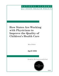 How States Are Working with Physicians to Improve the Quality of ...