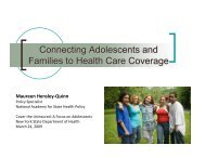 Connecting Adolescents and Families to Health Care Coverage