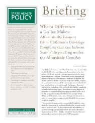 What a Difference a Dollar Makes: - National Academy for State ...