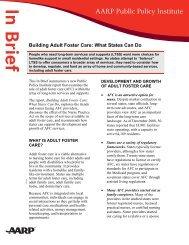 Building Adult Foster Care - Aarp