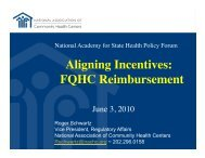 Aligning Incentives: FQHC Reimbursement - National Academy for ...