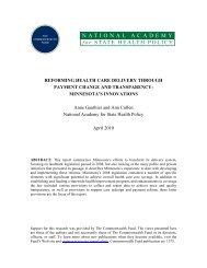 Reforming Health Care Delivery Through Payment Change and ...